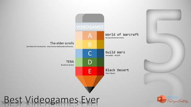 5 VideoGames Pencil Animated Infographic